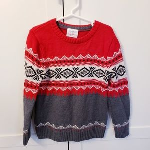 Hanna Andersson winter sweater 4 Christmas red